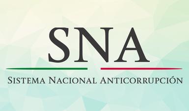 Letras SNA abajo el texto: Sistema Nacional Anticorrupción