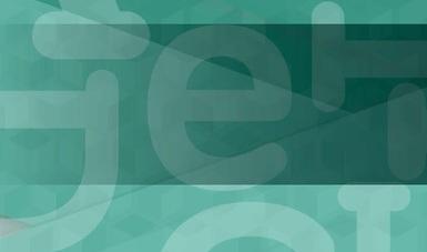 Letras en fondo verde