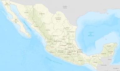 Mapa nacional de instrumentos en materia de cambio climático por entidad federativa.