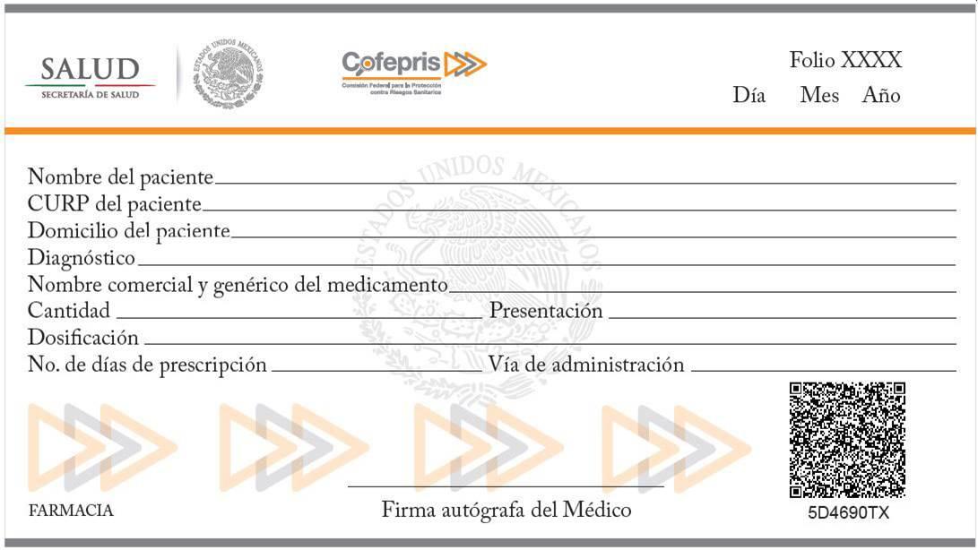 Sistema de recetarios electrónicos para medicamentos de