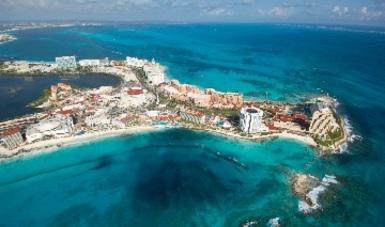 Toma aérea de Cancún, Quintana Roo