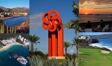 Collage de diferentes destinos turísticos de FONATUR