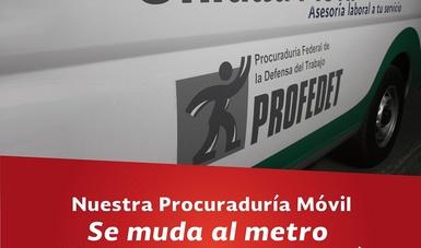 La Procuraduría Móvil se muda al Sistema de Transporte Colectivo Metro.