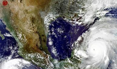 GNC. Donación realizada por la NOAA  a través de su servicio meteorológico NESDIS. Derechos Reservados @CONABIO @NASA 2004