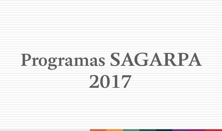 Programas SAGARPA 2017