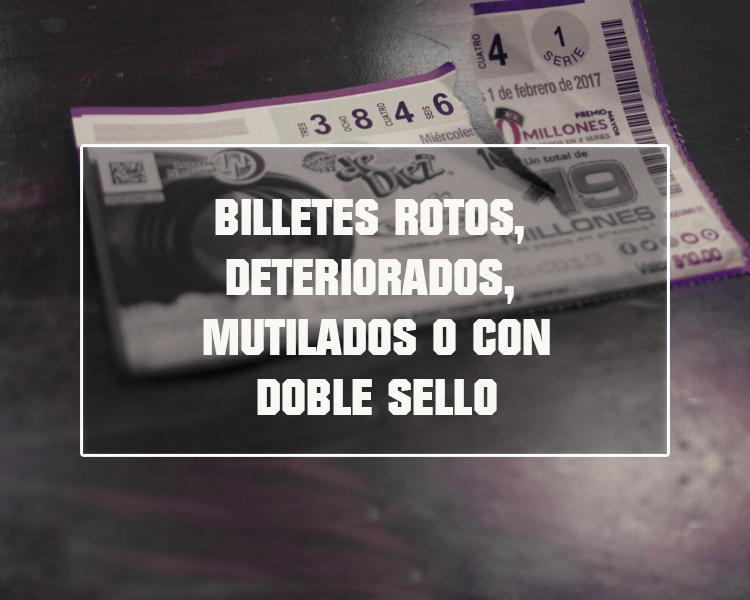 Todos aquellos billetes de lotería que hayan obtenido según la lista oficial de premios podrán ser cobrados dentro de un año de la vigencia del sorteo; aún cuando estos billetes presenten características físicas de deterioro
