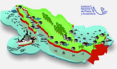 Simulación de la República Mexicana con la ubicación de los CRIPS