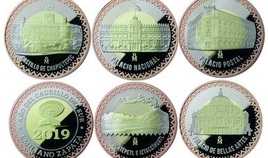 Medallas trimetálicas, Colección de los Palacios 2019.