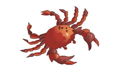 Cangrejo rojo que simboliza al Cáncer