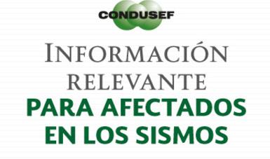 Información relevante para afectados en el sismo