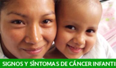 Signos y síntomas de alerta para sospecha de cáncer en menores de 18 años.