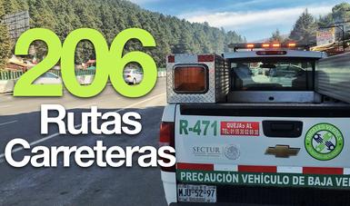A lo largo del país tenemos cobertura en 198 carreteras.