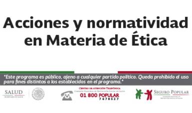 Acciones y normatividad en Materia de Ética.
