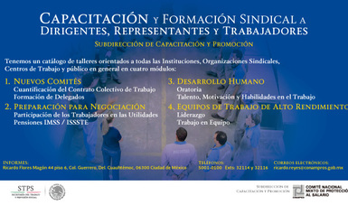 Capacitación y Formación Sindical a Dirigentes, Representantes y Trabajadores
