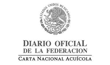 Diario Oficial de la Federación, Carta Nacional Acuícola