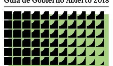 Imagen de la Guía de Gobierno Abierto 2018 con logos de SFP, INAI, SEGOB y FEPADE.