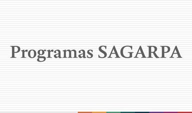 Programas de la SAGARPA