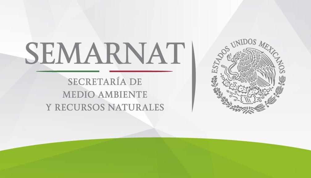 Logotipo oficial de la Secretaría de Medio Ambiente y Recursos Naturales (SEMARNAT) en los Estados Unidos Mexicanos.