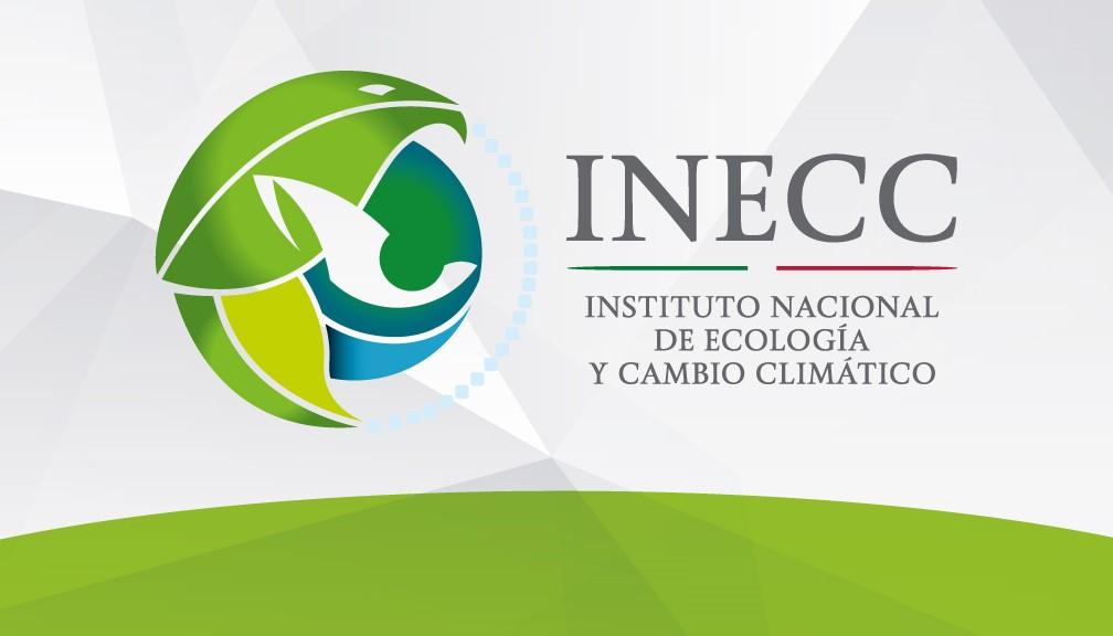 Logotipo oficial del Instituto Nacional de Ecología y Cambio Climático (INECC) en los Estados Unidos Mexicanos.