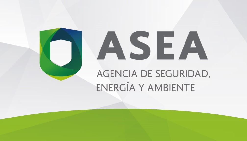 Logotipo oficial de la Agencia de Seguridad, Energía y Ambiente (ASEA) en los Estados Unidos Mexicanos.