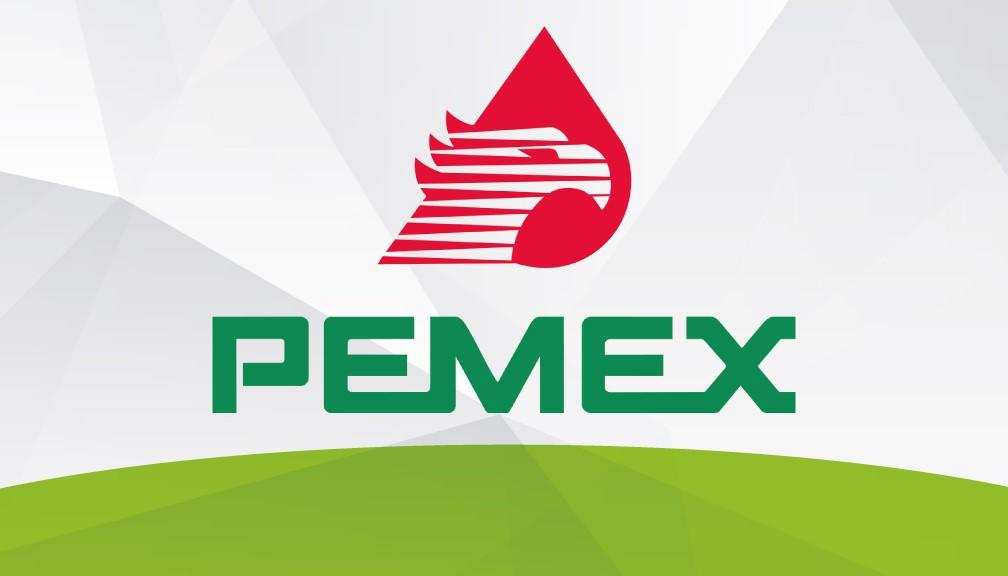 Logotipo oficial de Petróleos Mexicanos (PEMEX) en los Estados Unidos Mexicanos.