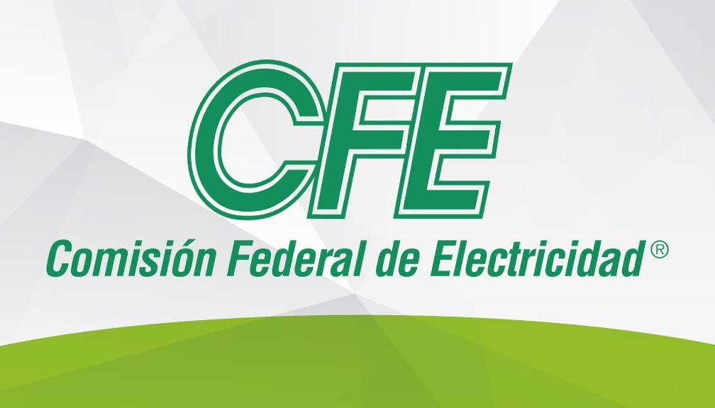 Logotipo oficial de la Comisión Federal de Electricidad en los Estados Unidos Mexicanos.
