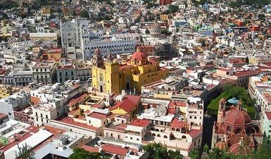 Panorámica de la ciudad de Guanajuato, Guanajuato.