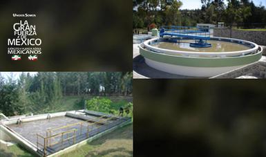 Plantas de operación de tratamiento de aguas residuales.
