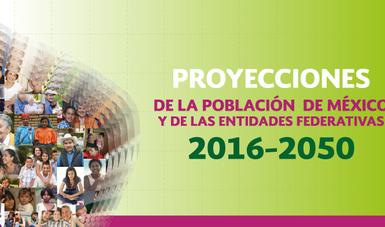 Mosaico de fotos en pirámide poblacional, representando las nuevas proyecciones de la Población de México y de las Entidades Federativas 2016 a 2050