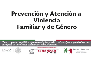 Prevencion y atencion a violencia familiar y de genero
