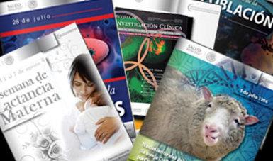 Imagen de portadas de boletines informativos publicados en años anteriores por la Comisión Coordinadora de Institutos Nacionales de Salud y Hospitales de Alta Especialidad