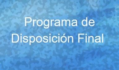 Programa de Disposición Final de Bienes Muebles 2019