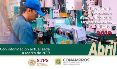 Portada del Boletín Económico - Abril 2019