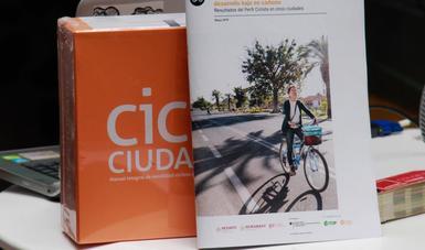 en la imagen se observan el Ranking Ciclociudades y el Perfil Ciclista 2018.