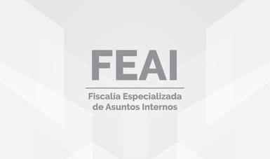 Letrero con las siglas de FEAI