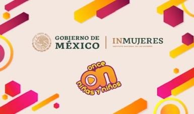 Logos gobierno de méxico, inmujeres y canal once niñas y niños