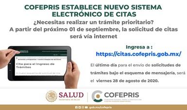 Cofepris establece nuevo sistema electrónico de citas. (Tutorial)