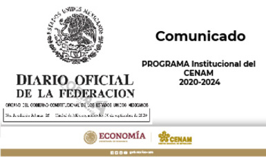 Programa Institucional del Centro Nacional de Metrología 2020-2024.