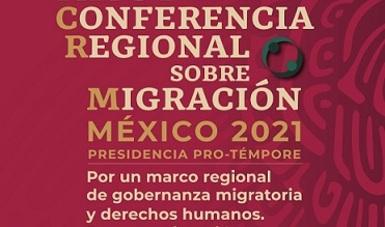 Banner de la xxvi conferencia regional sobre migración