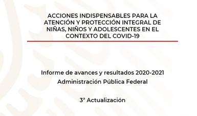 Portada del Tercer Informe a mayo 2021