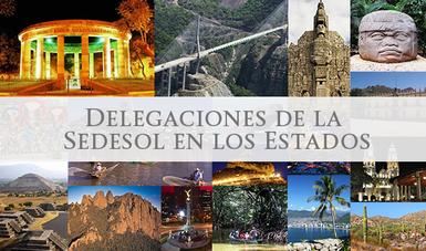 Collage de imágenes de sitios representativos de los estados de la república