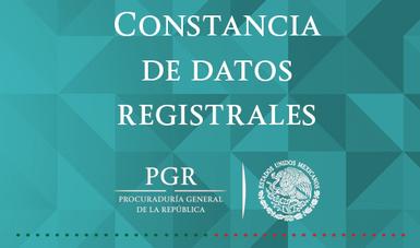Constancia de datos registrales