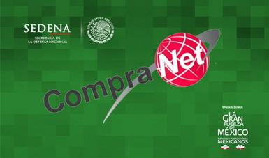 Imagen representativa a compranet y logos de la SEDENA.