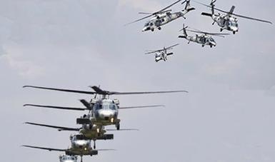 Helicópteros de la Fuerza Aérea Mexicana.