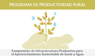 Componente de Infraestructura Productiva para el Aprovechamiento Sustentable de Suelo y Agua