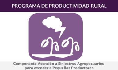 Componente Atención a Siniestros Agropecuarios para Atender a Pequeños Productores