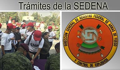 Texto de trámites de la Secretaría de la Defensa Nacional.