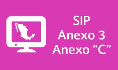 """Sistema Integral de Procedimientos (SIP),  Anexo 3 y Anexo """"C"""""""