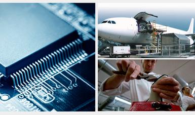 Sectores Productivos electrónica, exportación y calzado