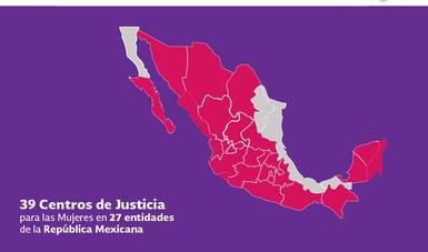 Centros de Justicia para las Mujeres en México